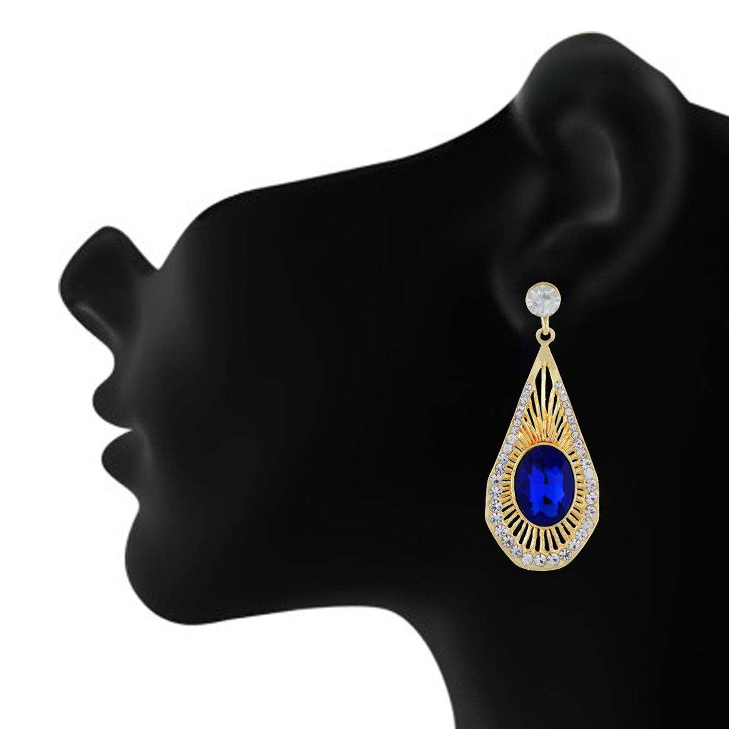 Gold and Blue colour Drop design Hanging for girls and women