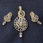Load image into Gallery viewer, Smart Gold Plated CZ Copper Pendant Set for Ladies and Girls