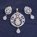 Load image into Gallery viewer, Ethnic Gold Plated CZ Copper Pendant Set for Ladies and Girls