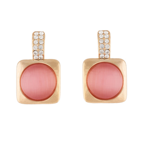 Stylish Peony Colour Ear Stud for Girls and Women