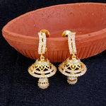 Load image into Gallery viewer, Gold CZ Copper Jhumki