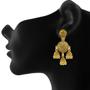 Gold plated Multi Jhumki Earrings Fashion Imitaion Jewelry for Girls and Women