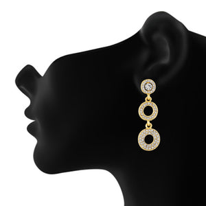 Awesome Gold Colour Round Shape Earring for Girls and Women