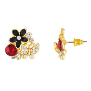 Smart Multi Colour Floral Design Studded Earring for Girls and Women