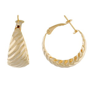 Gold colour Round Design Hoop Earrings for Girls and Women
