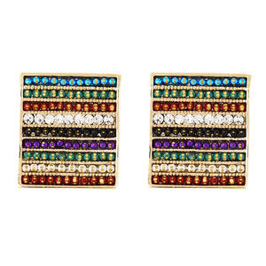 Wonderful Multi Colour Rectangular Shape Earring for Girls and Women