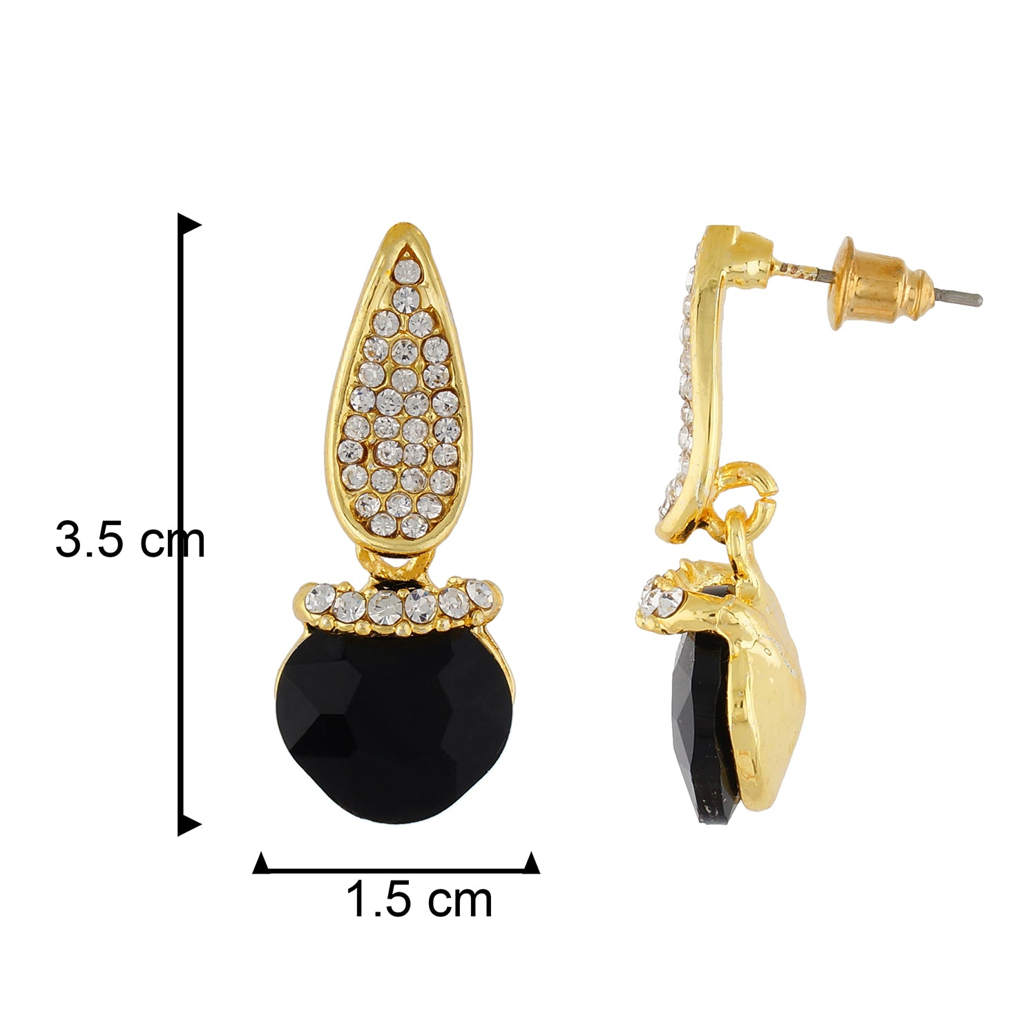 Beautiful Black and Gold Colour Drop Design Earring for Girls and Women