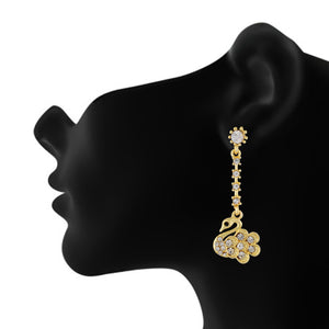 Amazing Gold Colour Duck Hanging Design Earring for Girls and Women