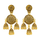 Load image into Gallery viewer, Gold plated Multi Jhumki Earrings Fashion Imitaion Jewelry for Girls and Women