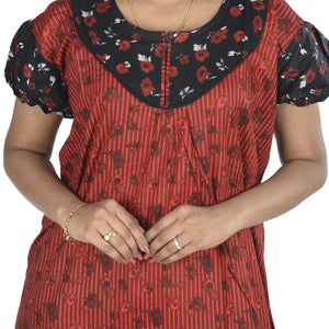 Cotton Printed Nighty for Ladies