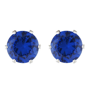 Blue colour Round design  Studs for girls and women