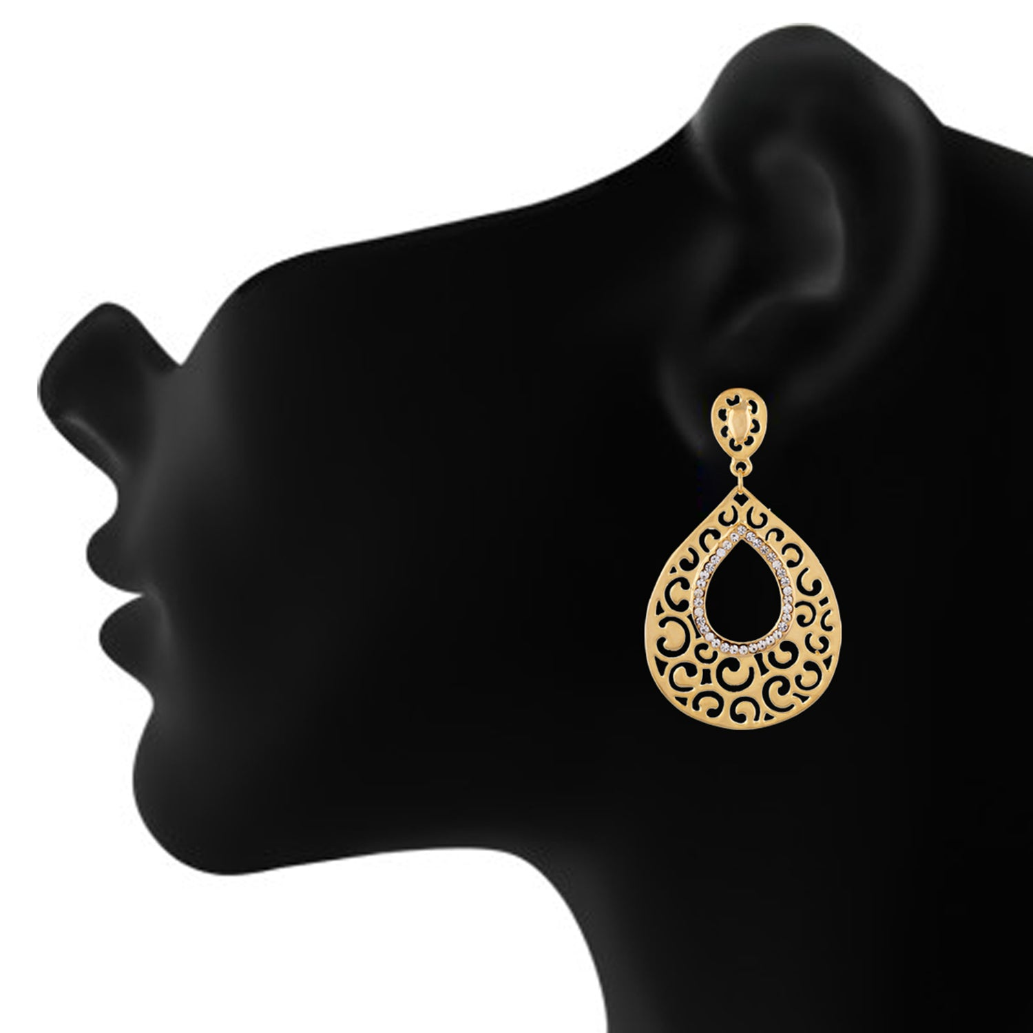Gold colour Drop design Danglers for girls and women