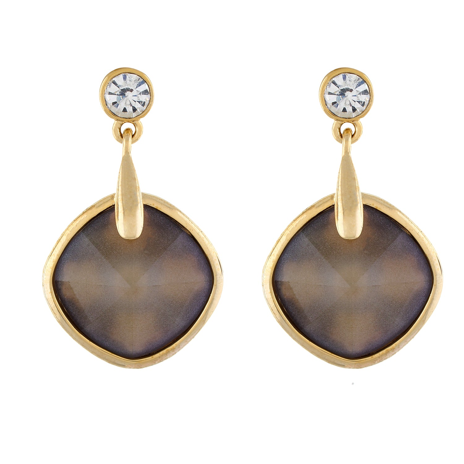 Brown colour Rohmbus Design Hanging Earrings for Girls and Women