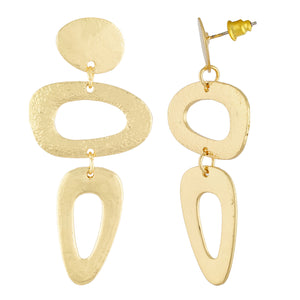Glamorous Gold Colour Geometrical Shape Earring for Girls and Women