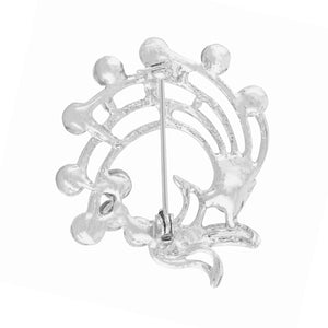 Outstanding Silver Colour Alloy Brooch for Men and Women