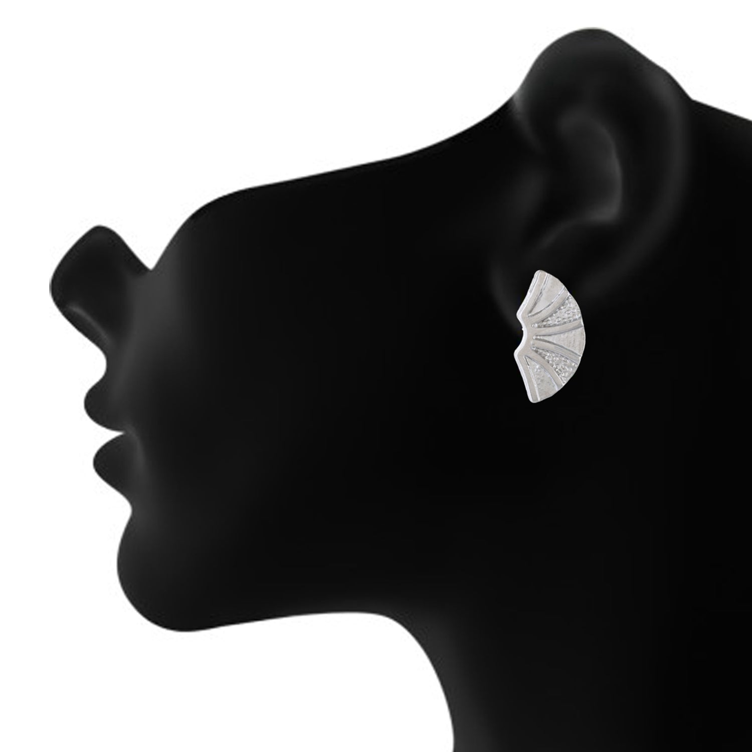 Silver colour Geometrical Design  Stud Earrings for Girls and Women