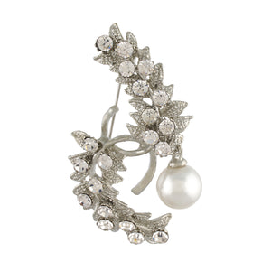 Designer Silver Colour Alloy Brooch for Men and Women