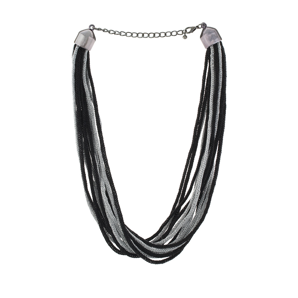 Black and Silver colour Multi Line design  for girls and women