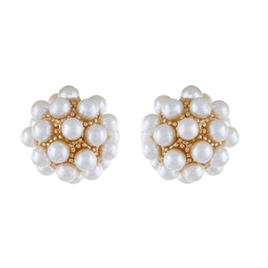 White colour Round design  Studs for girls and women