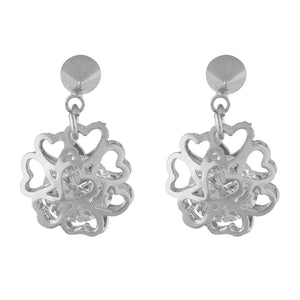 Phenomenal Silver Colour Floral Design Earring for Girls and Women