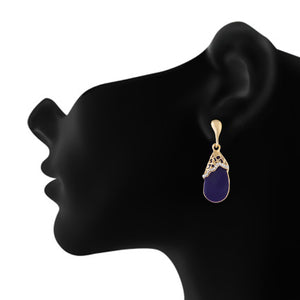 Purple colour Drop Design Hanging Earrings for Girls and Women