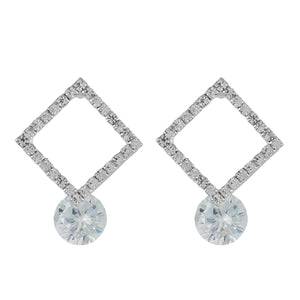 Impressive Silver Colour Rhombus Design Earring for Girls and Women