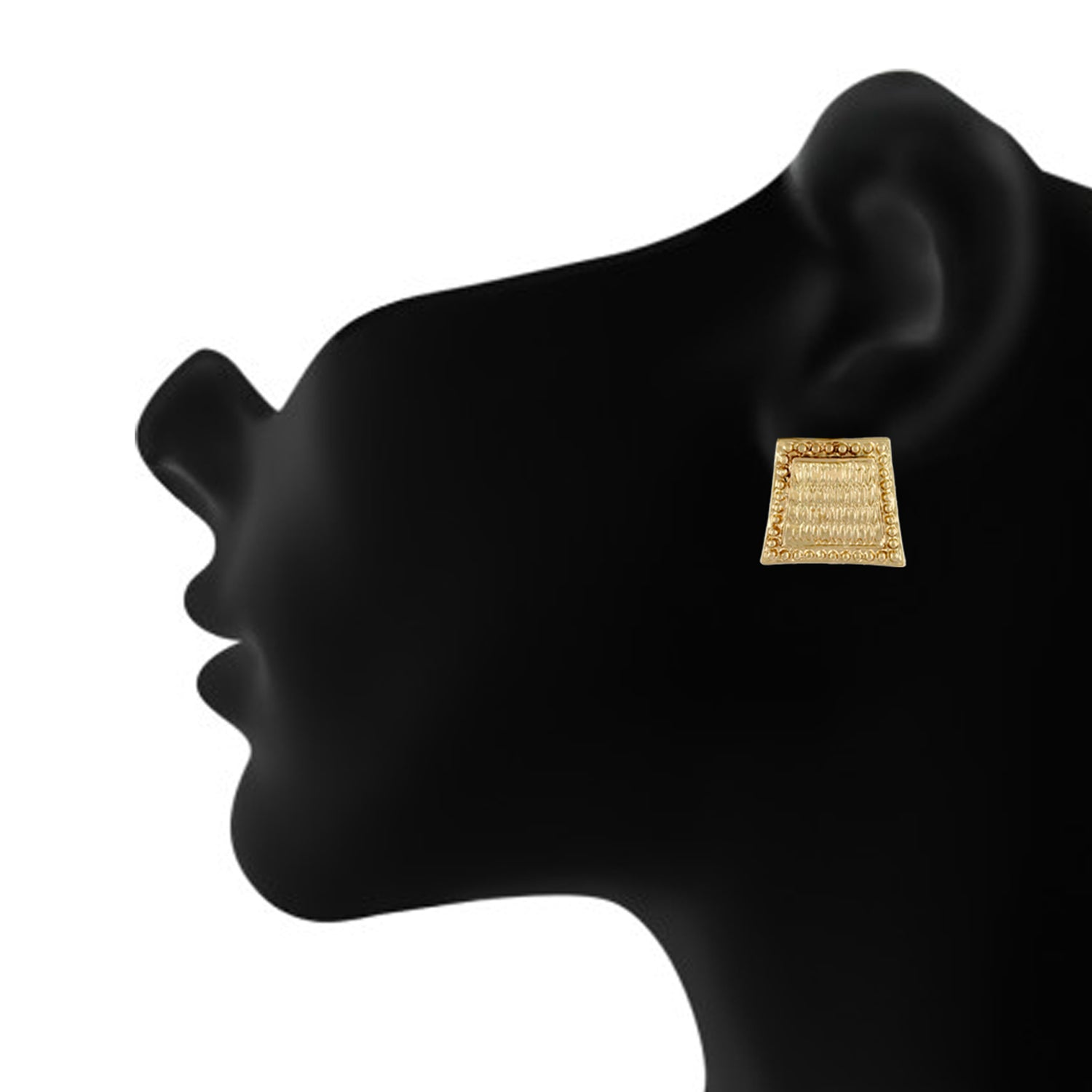 Gold colour Geometrical Design  Stud Earrings for Girls and Women