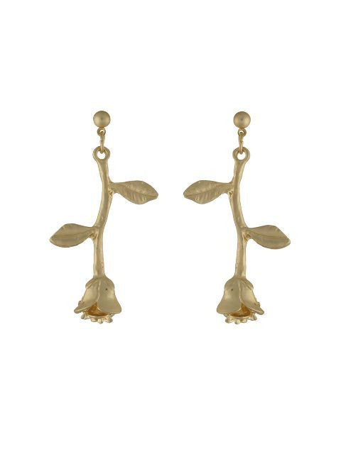 Gold colour Floral shape Earring