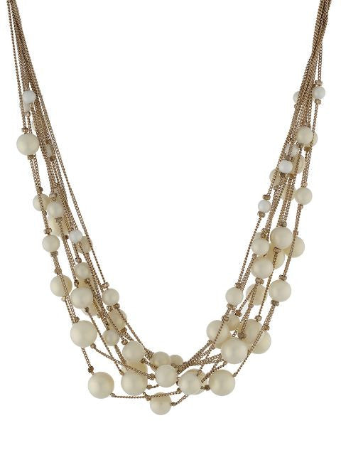 Cream and Gold colour Western design Necklace