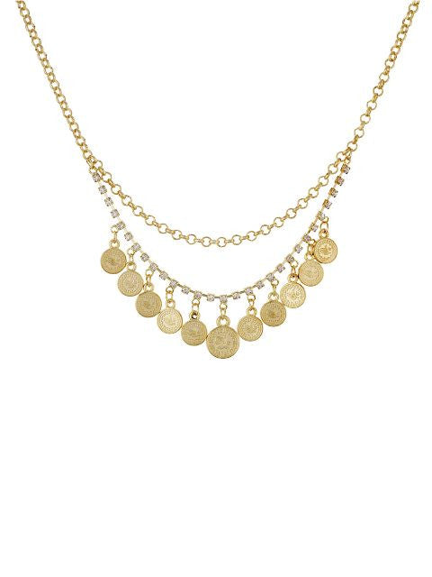Gold colour Traditional design Necklace