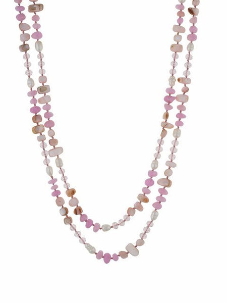 Pink colour Western design Necklace