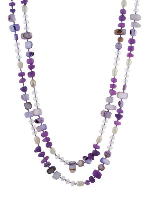 Purple colour Western design Necklace