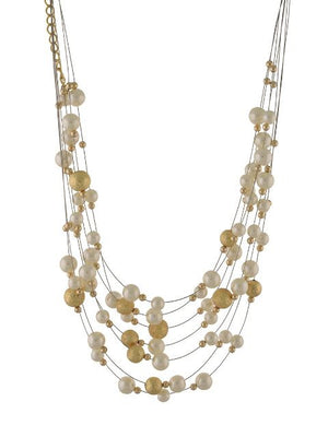 White and Gold colour Western design Necklace