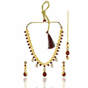 Gold colour Traditional design Necklace Set