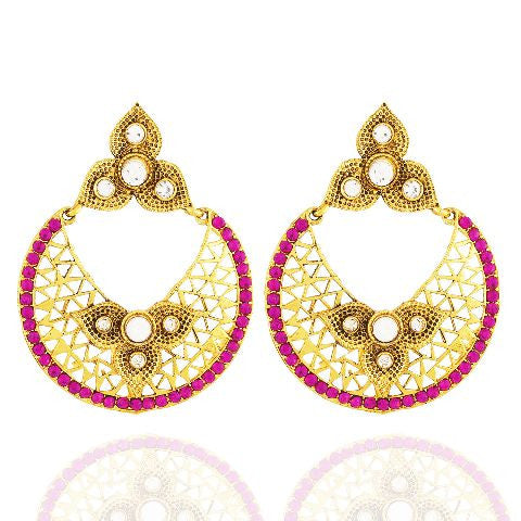 Pink colour Earring