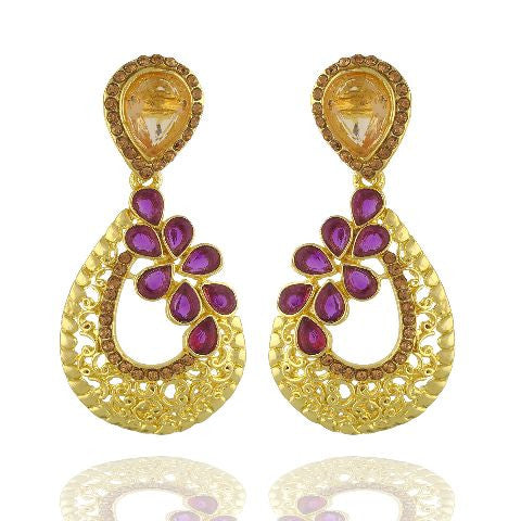Purple colour Earring