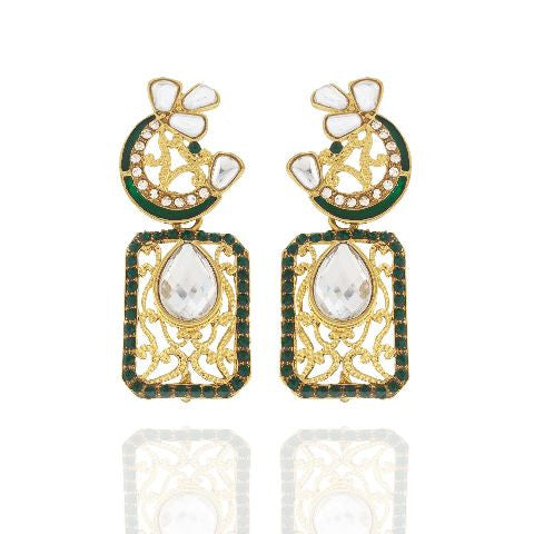 Green  colour Earring