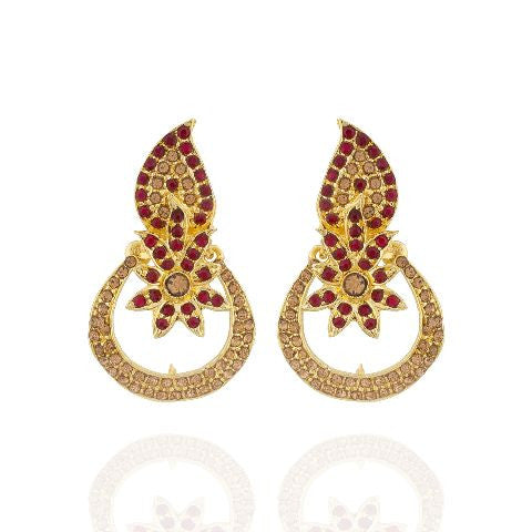 Maroon colour Earring
