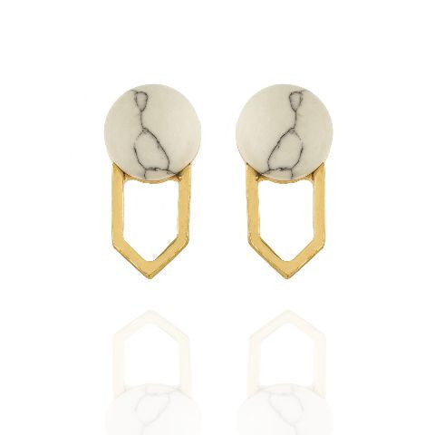 White colour Earring