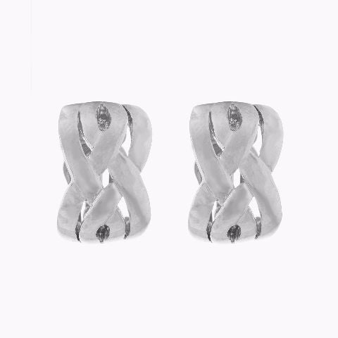 Silver colour Bali shape Earring