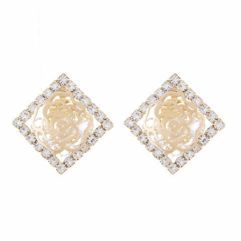 Gold colour Daimond shape Earring