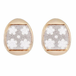 Gold colour oval shape Earring