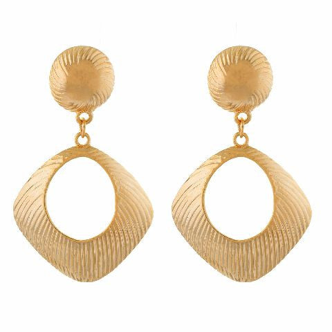 Gold colour rhombus shape Earring