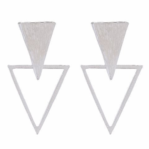 Silver colour Triangle shape Earring