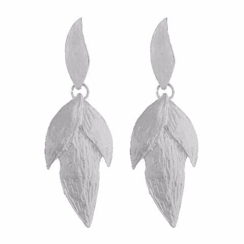 Silver colour Leaf  shape Earring