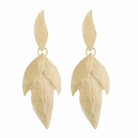 Gold colour Leaf  shape Earring