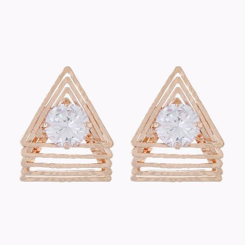 Copper colour Triangle shape Studded Earring