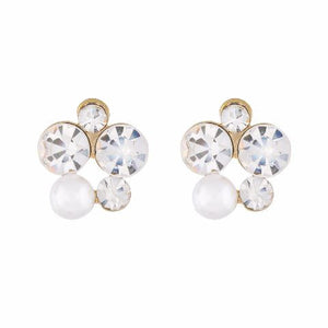 White  colour formless shape Pearl Earring