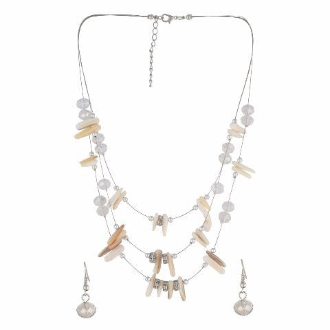 Cream colour Western design Necklace Set