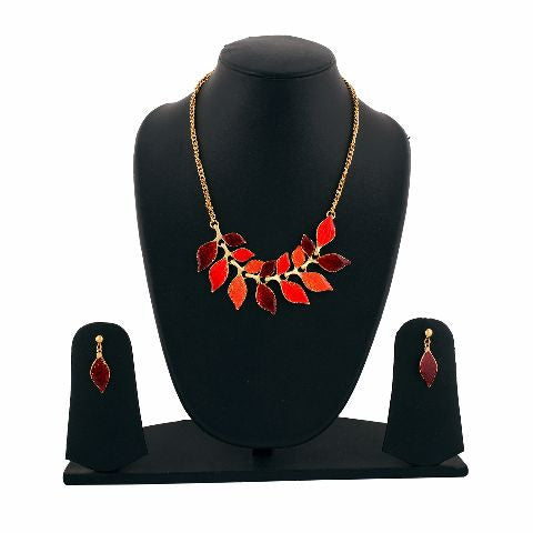 Red colour Western design Necklace Set